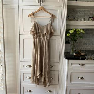 New Forever 21 Taupe Ruffle Dress